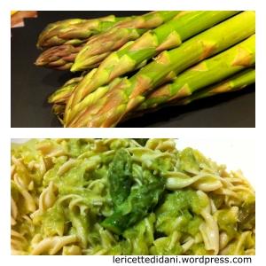 Pasta condita con crema di asparagi