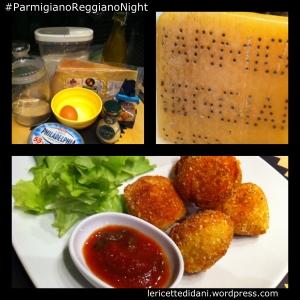 Frittelle salate di Parmigiano e mandorle con sesamo è l'antipasto per la Parmigiano Reggiano Night
