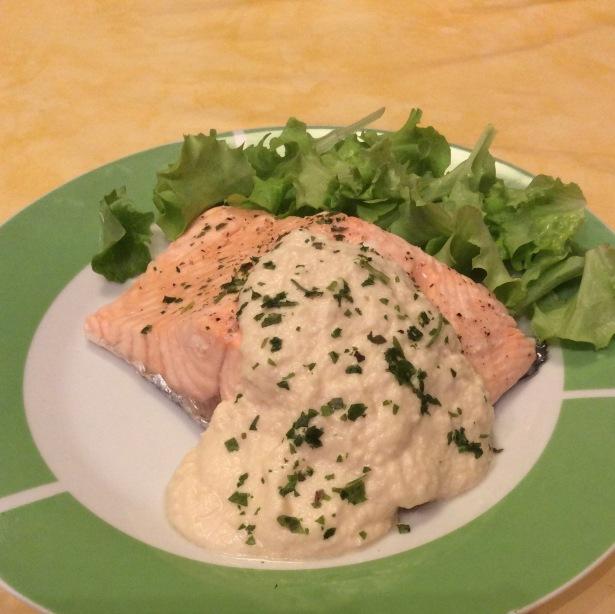 Le Ricette di Dani: salmone al vapore con salsa di mele e yogurt